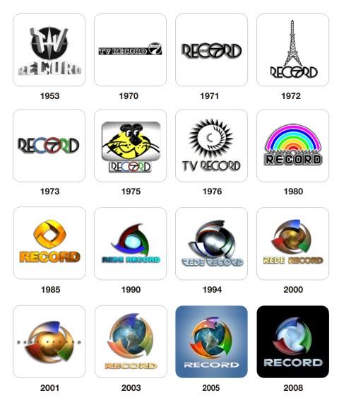 Evolução da marca da Record